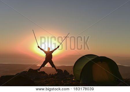 after camp Sunrise & amazing sunrise time