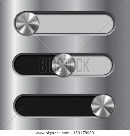 Slider toggle switch. Interface button. Vector illustration