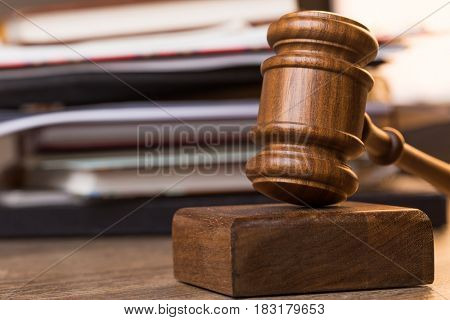 Image of judge wooden hammer