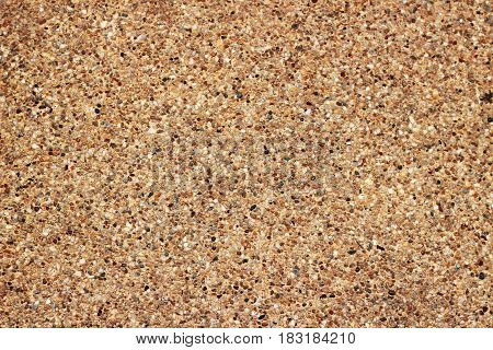 The sandstone is polished to a smooth brown background