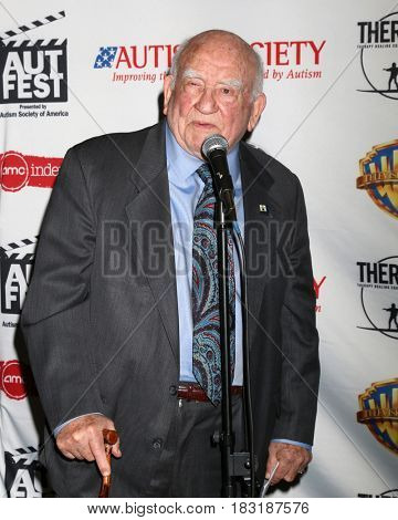 LOS ANGELES - APR 23:  Ed Asner at the 1st Annual AutFest International Film Festival at AMC Orange 30 on April 23, 2017 in Orange, CA