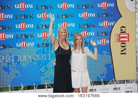 Giffoni Valle Piana Sa Italy - July 15 2011 : Martha and Dina De Laurentiis at Giffoni Film Festival 2011 - on July 15 2011 in Giffoni Valle Piana Italy