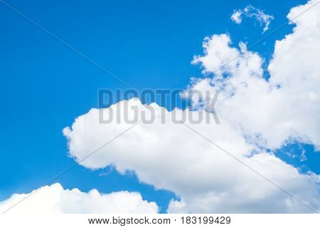 Nice blue sky with cloudy,nature background outdoor