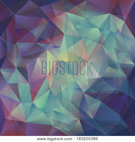 Polygonal mosaic background. Geometric background. Vector stock.