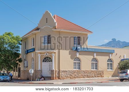 LADISMITH SOUTH AFRICA - MARCH 25 2017: An historic old building in Ladismith a small town in the Western Cape Province