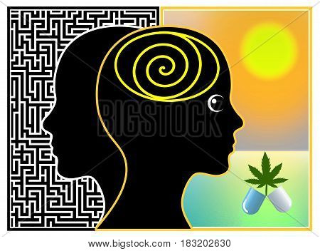 Medical Marijuana. Mental conditions like depression, bipolar disorder or insomnia treated with cannabis