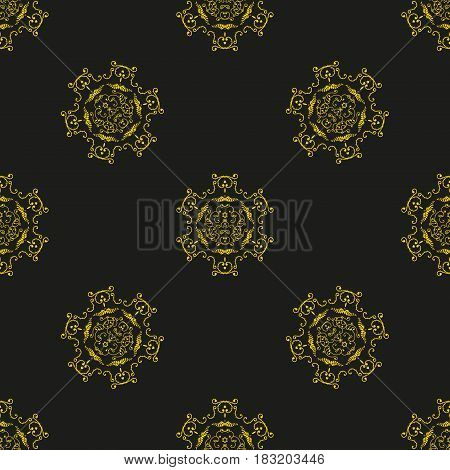 Abstract geometric retro seamless pattern vector illustration. Decorative antique vintage pattern background simple print style. Modern border fashion artistic cover wallpaper art.