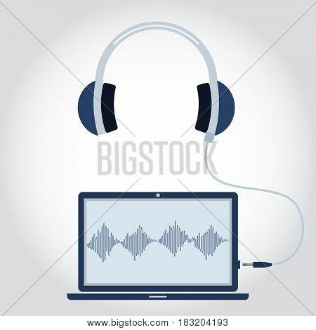 Laptop With Headphone