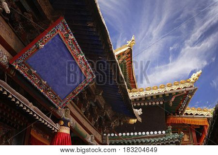 Roof Decoration In A Buddhist