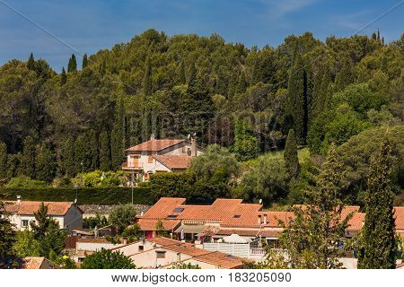 View on old small town, Biot, Alpes-Maritimes department, Provence-Alpes-Cote d'Azur, France