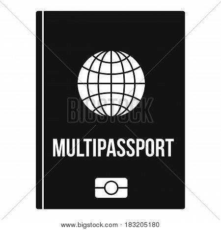 Multipassport icon. Simple illustration of multipassport vector icon for web