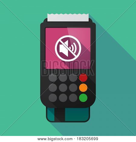 Long Shadow Dataphone With  A Speaker  In A Not Allowed Signal