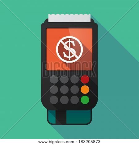 Long Shadow Dataphone With  A Dollar Sign  In A Not Allowed Signal