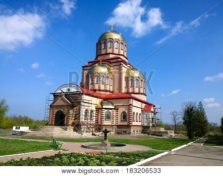 The building of a man's monastery in the city of Krivoy Rog in Ukraine