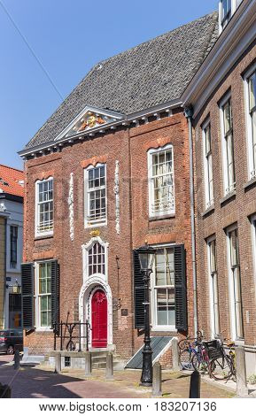 UTRECHT, NETHERLANDS - APRIL 09, 2017: Old building in the historic center of Utrecht, Netherlands