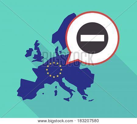 Long Shadow Eu Map With  A No Trespassing Signal