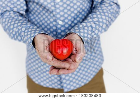 Man Holding Heart Love Relationship