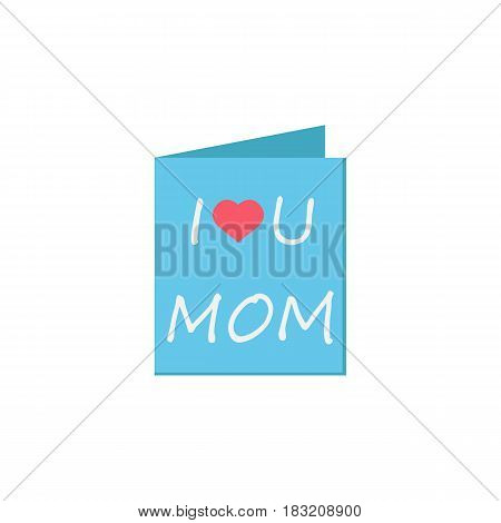 Greeting card flat icon, mothers day, holiday vector graphics, a colorful solid pattern on a white background, eps 10.