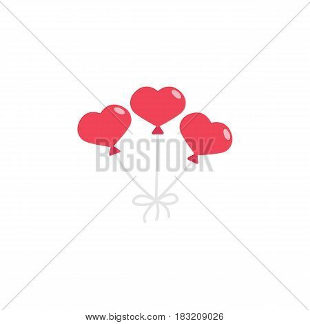 Balloons in the shape of heart flat icon, mothers day, love vector graphics, a colorful solid pattern on a white background, eps 10.