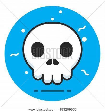 Skull human Icon vector illustration design art