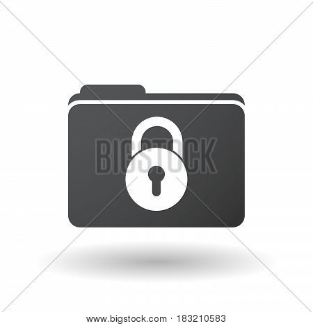Isolated Folder Signal With  A Closed Lock Pad