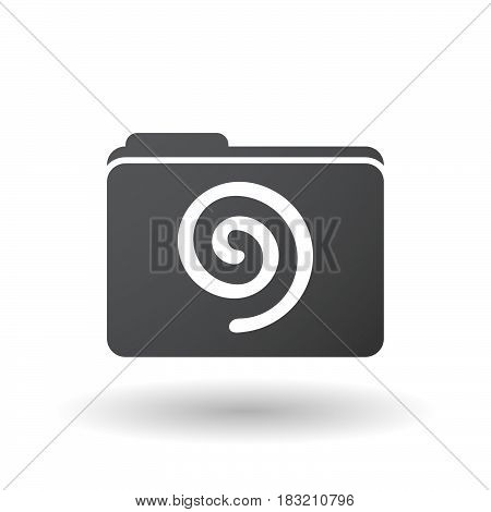 Isolated Folder Signal With  A Spiral