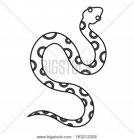 Venomous snake icon in outline style isolated on white background vector illustration