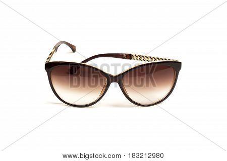 Female sunglasses on white background isolate buity