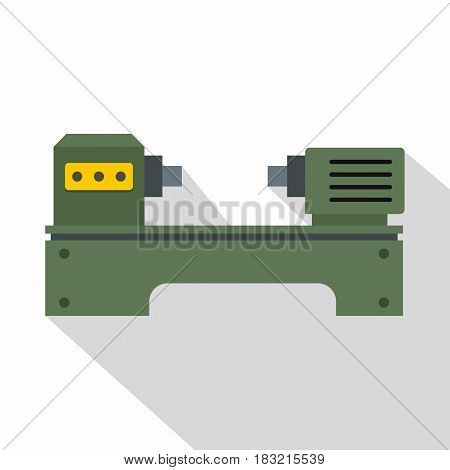 Lathe machine icon. Flat illustration of lathe machine vector icon for web on white background