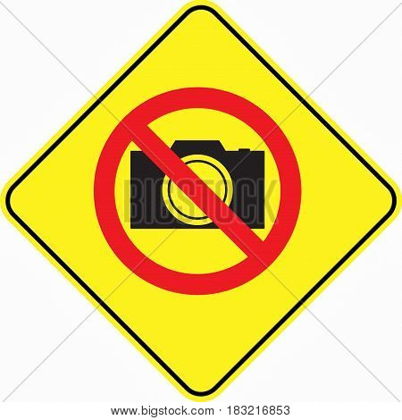 no photo prohibited taken message warning  stop