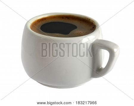 A coffee cup isolated on a white background