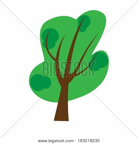 Vector icon tree illustration element nature sign