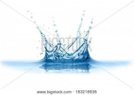 Water splash, isolated on the white background.