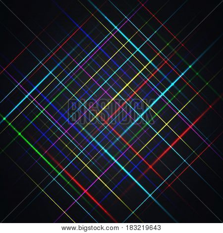 Abstract background of a set of multi-colored stripes vector illustration.