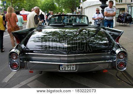 "BERLIN - MAY 28: Cars Cadillac Sedan de Ville the exhibition ""125 car history - 125 years of history Kurfurstendamm"" May 28 2011 in Berlin Germany"