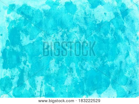 Turquoise Watercolor Background