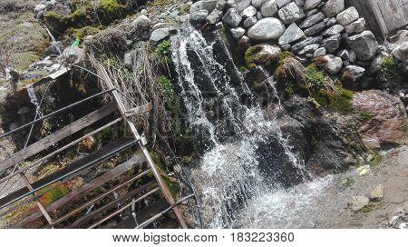 Water fall in Swat meadow. Very beautiful seen captured.