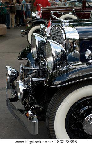 BERLIN - MAY 28: Cars Cadillac V-16 (Cadillac Sixteen) the exhibition