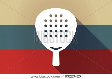 Ong Shadow Russia Flag With  A Paddle Racket