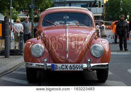 "BERLIN - MAY 28: Car Volkswagen Beetle the exhibition ""125 car history - 125 years of history Kurfurstendamm"" May 28 2011 in Berlin Germany"