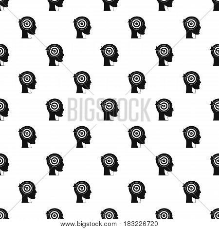 Target in human head pattern seamless in simple style vector illustration