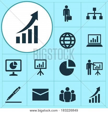 Trade Icons Set. Collection Of Diagram, Statistics, Pie Bar And Other Elements. Also Includes Symbols Such As Analytics, Graph, Structure.