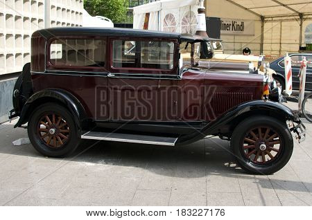 BERLIN - MAY 28: Erskine Model 51 Sedan in 1928 the exhibition