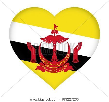 Flag Of Brunei Heart.