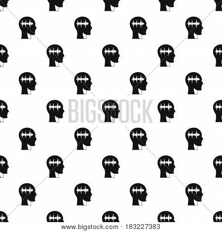 Sound wave pattern seamless in simple style vector illustration
