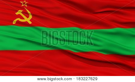 Closeup Transnistria Flag, Waving in the Wind, High Resolution