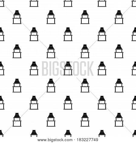BBQ grill pattern seamless in simple style vector illustration