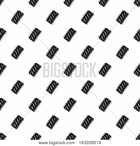 Pork rib meat pattern seamless in simple style vector illustration