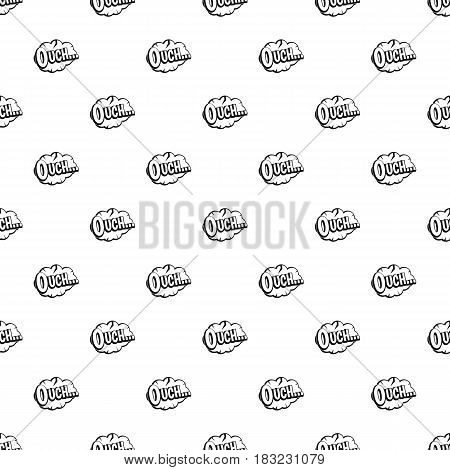 Ouch, speech cloud pattern seamless in simple style vector illustration
