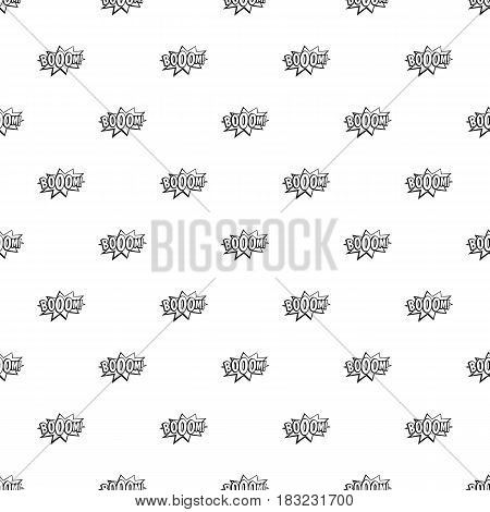 Boom, explosion bubble pattern seamless in simple style vector illustration
